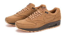 NIKE AIR MAX 1 QS BROWN SUEDE FLAX WHEAT PREMIUM 704997 200 AIRMAX ZERO GOLD