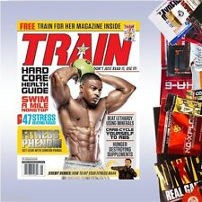 SUPPLEMENT SAMPLE + TRAIN MAGAZINE (CURRENT EDITION) bodybuilding nutrition diet