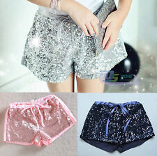 Fashion Girls Baby Toddler Sequin Shorts Sparkle Party Clothes Mini Shorts 1-6Y