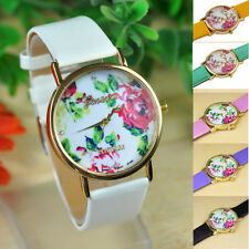 2015 NEW Curren Fashion Women Leather Rose Flower Watch Quartz Watches часы Gift
