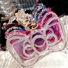 Bowknot With Diamond Hellokitty Back Case Cover For Apple iPhone 5S & 6/6S
