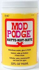 Mod Podge Matte - Decoupage Sealer Glue Finish - 4oz 8oz 16oz 32oz Water Soluble
