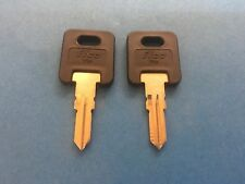2 FIC RV Plastic Head Keys Code Cut HF301, HF351-(CH751-BRASS ONLY)