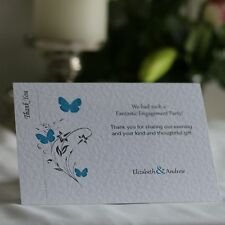 20 - 100 Butterfly Personalised Engagement Thank You Cards