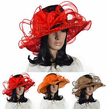 Easter church derby Kentucky wedding dress hat floral Lace organza formal hat@ZS