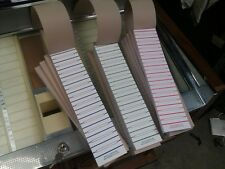 A BOOK OF 600 JUKE BOX TITLE SLIP CARDS SELECT JUKE BOX TYPE AND COLOUR
