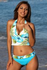 UjENA Swimsuit Maui Banded Halter Tankini Bathing Suit Sizes S M L XL 1X 2X