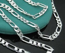 """Wholesale Lots 5pcs 925 Sterling Silver 2mm Italy Figaro 16""""-30"""" Chain Necklace"""
