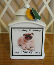 Dog Memorial Urn Personalized, FOREVER IN MY HEART, Cat PET Photo, Personalised