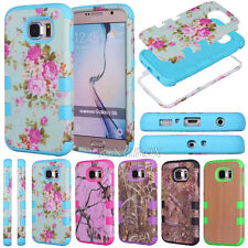 Painted Printed Silicone Shockproof Armor Matte Case Cover For Samsung Galaxy S6