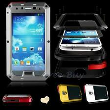 Aluminum Metal Shock Water Proof Gorilla Glass Case Cover for Samsung Galaxy S4
