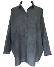 WON HUNDRED Blue Cotton Oversized Shirts Long Sleeve Denim Blue Size 6 8 10 12