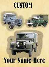 Land Rover car Birthday,Get Well HAPPY A5 Personalised Greeting Card pidLR1
