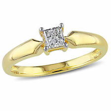 Amour 10k Yellow Gold 1/3 Ct TDW Diamond Solitaire Ring J-K I2-I3