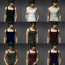 Men's Tank Tops Clothing Vests Men Slim Fit Sexy Stylish Sleeveless T-Shirts yy