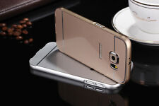 Aluminum Metal Frame Case PC Hard Acrylic Back Cover Skin For Samsung Galaxy