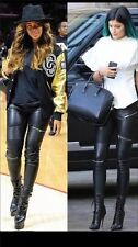 ZARA *Faux Leather Biker Trousers With Zip* NEW_SIZE_XS_S_M_L