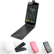 """For 5"""" Micromax Canvas Turbo Smartphone Flip Shell Cover Leather Case Skin Hot"""