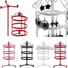 72 Holes Earrings Ear Stud Jewelry Metal Rotating Display Stand Holder Rack