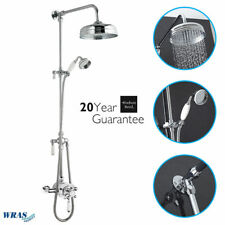 Hudson Reed Traditional Dual Exposed Thermostatic Shower Valve Rigid Riser Kit