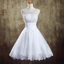 2015  New White Mini Dresses Elegant wedding dress Size 6/8/10/12/14/16