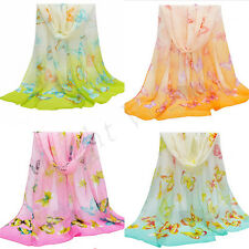 Hot Women Lady Chiffon Butterfly Long Soft Scarf Shawl Wrap Scarves Stole 63