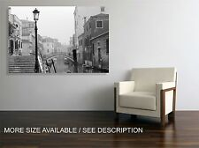 Canvas Print  Picture Venice Old Street  / Gallery wrapped ready to hang