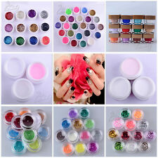 Solide Reines Glitter Mix Color Gel Acryl Set UV Erbauer Nagel Kunst Dekor Set