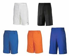 PUMA Golf Rickie Fowler Jr Children Youth Kids Golf Tech Shorts Blue Orange