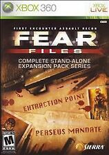 FEAR Files:Complete Stand-Alone Expansion Pack Series  (Xbox 360) FAST SHIPPING!