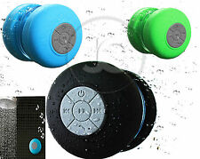 WATERPROOF WIRELESS BLUETOOTH ALTOPARLANTI Vivavoce Mic DOCCIA Altoparlante