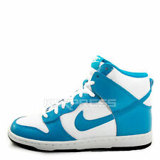 WMNS Nike Dunk High Skinny [429984-106] NSW Casual White/Lite Blue Lacquer