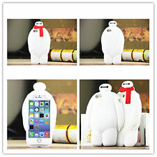 Cute Big Hero 6 Baymax Silicone Rubber Gel Phone Case Cover For iPhone Samsung