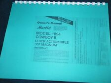 MARLIN  1894,  COWBOY II,  357 MAG.   OWNERS MANUAL,   12 PAGES