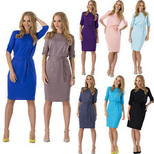 Summer Sexy Womens Ladies OL Work Tunic Casual Cocktail Party Belt Pencil Dress