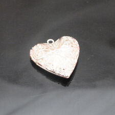 3/6/12pcsTibetan Silver Alloy Hollow Heart Pendants Fit Necklace 25x25mm