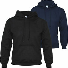 MENS PULLOVER HOODED SWEATSHIRT HOODIE HOODY JACKET PLAIN BLANK S M L XL XXL