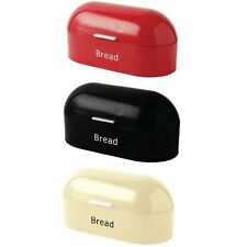 Retro Bread Bin Steel Kitchen Top Storage Roll Loaf Box Tin New By Home Discount