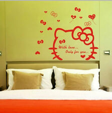Cute Hello Kitty Living Room Bedroom Decor Mural Art Vinyl Wall Decal Sticker