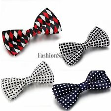 British Style Tuxedo Bowtie Formal Bowknot Mens Wedding Party Adjustable Bow Tie