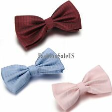 Classic Tuxedo Bowtie New Stripe Bowknot Men's Wedding Party Adjustable Bow Tie