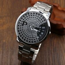 PAIDU Fashion New Turntable Dial Quartz Wrist Watch Stainless Steel Strap Gifts