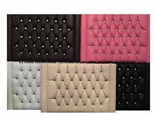 NEW LEATHER CHESTERFIELD HEADBOARD FREE P&P AVAILABLE IN 5 COLOURS + 6 SIZES