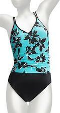 NWT MSRP $150 - MIRACLESUIT Trimshaper Bethany One-Piece, Surf Blue and Black
