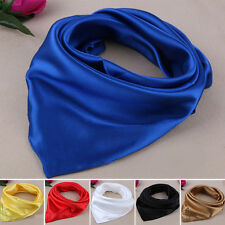 Spinning Fashion Smooth Elegant Neckerchief Lady/Men Silk Scarves Shawl New