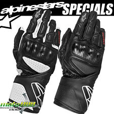 Alpinestars SP-8 Motorcycle Leather Gloves Road Bike Racing Riding Track