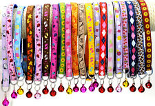 Pet Supplies Nylon Candy Colorful Color Bell Small Pets Safety Collar