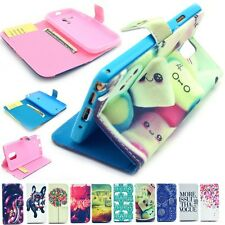 "Cute Paint Magnetic Flip Wallet Case Cover For Apple iPhone 4S 5S 5C 6 4.7"" inch"