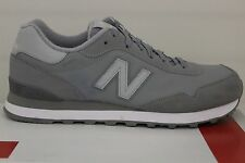 Men's New Balance Classics 515 ML515SBK Grey/White Size 9.5 New With Defects