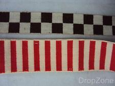 Assorted Vintage Cap Ribbon, Diced, City of London Police Red / White Striped